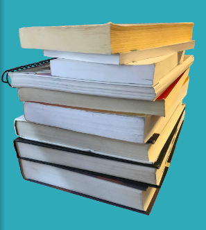Guided study break: picture of a stack of books