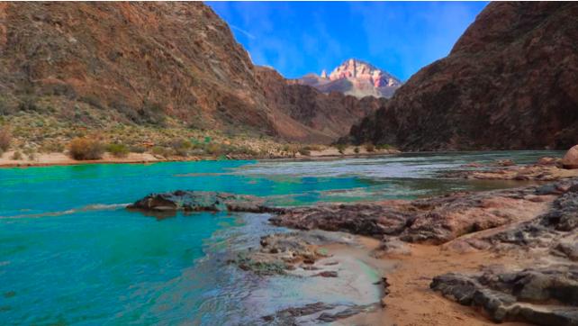 peaceful desert river relaxation