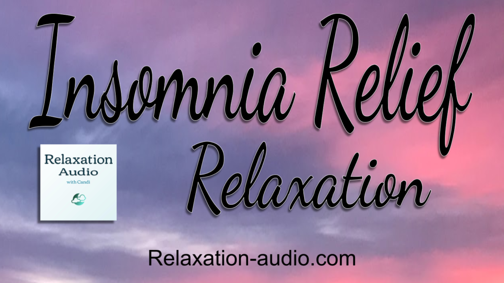 insomnia relief relaxation with calming pink and purple sunset