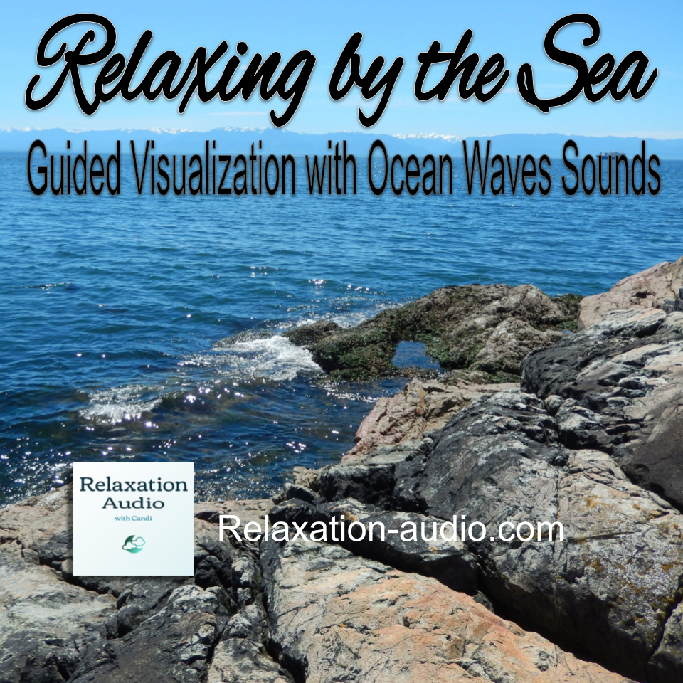 relaxing by the sea picture of ocean waves and rocks