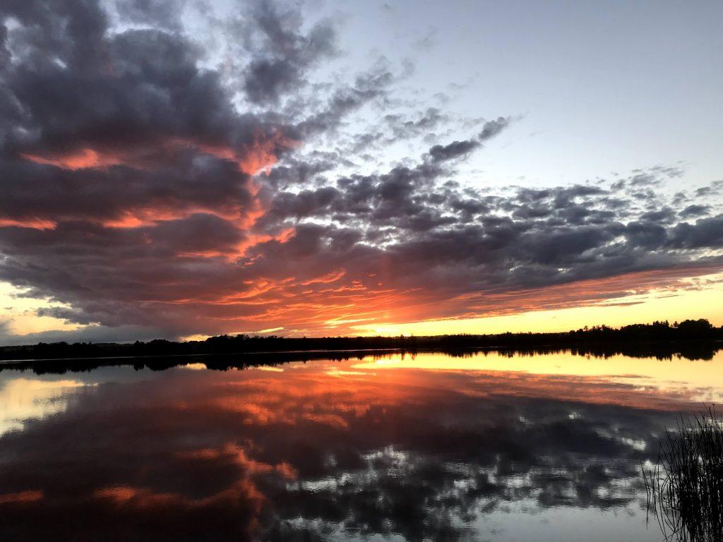 image of sunset, enjoying God's creation
