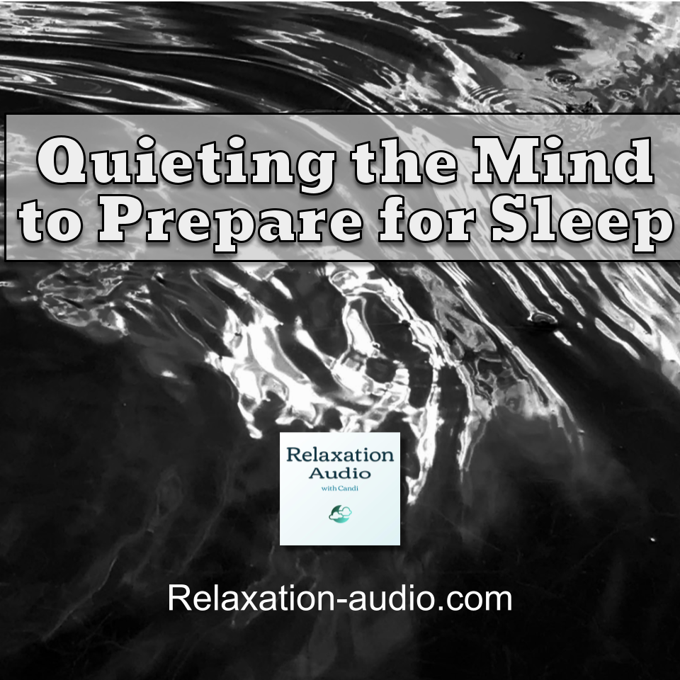 ripples on water to imagine quieting the mind to get ready to sleep